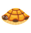 turtle in house icon cartoon style vector image