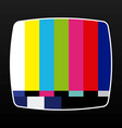tv no signal vector image