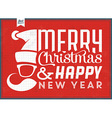 typographic christmas vintage background vector image