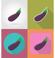 vegetables flat icons 09 vector image vector image