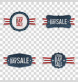veterans day labels set vector image vector image