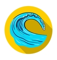 Wave icon in flat style isolated on white vector image vector image