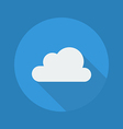 Weather Flat Icon Cloudy vector image