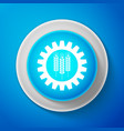 wheat and gear icon industrial and agricultural vector image vector image