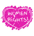 Women rights symbol vector image
