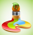 paint brush as symbol of vector image