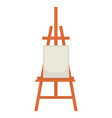 wooden easel with clean paper isolated on white vector image