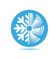 air conditioner icon flat design vector image