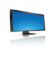 lcd tv monitor isolated vector image
