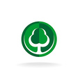 Green oak tree logo template vector image