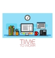 Time to work horizontal banner vector image