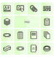 14 pad icons vector image vector image