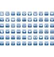 60 universal web icons set vector image