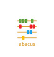 abacus icon design template isolated vector image vector image