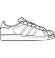 adidas superstar vector image