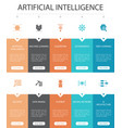artificial intelligence infographic 10 option ui vector image