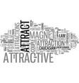 attract word cloud concept vector image vector image