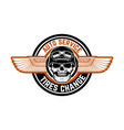 auto service tires change emblem with racer skull vector image vector image