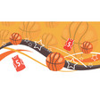 basketball background banner vector image vector image
