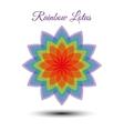 Beautiful rainbow lotus flower vector image