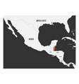 belize orange marked in political map of central vector image vector image
