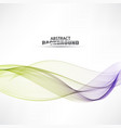 blue and green lines in the waveform vector image vector image