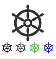 boat steering wheel flat icon vector image vector image
