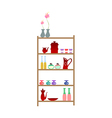 bottles placed on the shelf vector image vector image