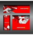 business banner red color design vector image vector image