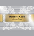 business card baroque ornament pattern vector image vector image