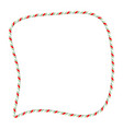 candy cane frame border for christmas design vector image vector image