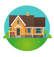 cartoon concept for sale house vector image