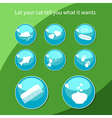 Cat buttons vector image