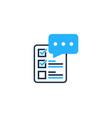 check testimonial logo icon design vector image