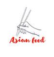 chopsticks for sushi 2 vector image