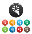 cursor interactive click icons set color vector image vector image