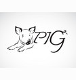 design a pig is text on a white background farm vector image vector image