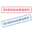 discharged textile stamps vector image vector image