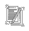 e-commerce document icon hand drawn icon set vector image