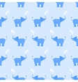 Elephant seamless pattern in blue vector image