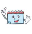 finger calendar mascot cartoon style vector image