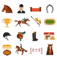 Flat Color Icons Set With Horse Equipment vector image vector image