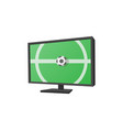 Football match on tv cartoon icon vector image vector image