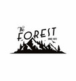 forest mountain adventure badge logo vector image vector image