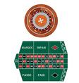 Frech roulette vector image vector image