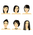 hairstyle japanese vector image