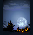 halloween background with dracula castle vector image vector image