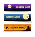 happy halloween festive horizontal banners vector image