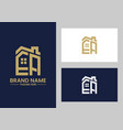 initial letter e and a with roreal estate vector image vector image