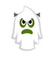 isolated cute halloween zombie ghost vector image vector image